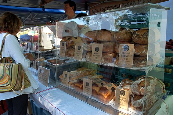 There are over 60 stalls, selling everything from flowers to olive oil, fruit, vegetables, pastries, dairy products, spices and meats.
