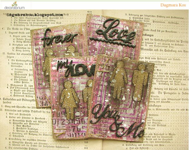 Artistic Trading Cards, ATC mixedmedia, DecoArt, Ranger, The Crafter's Workshop, Dylusions Paint