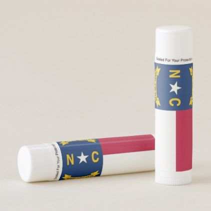 Patriotic Lip Balm flag of North Carolina USA - stylish gifts unique cool diy customize