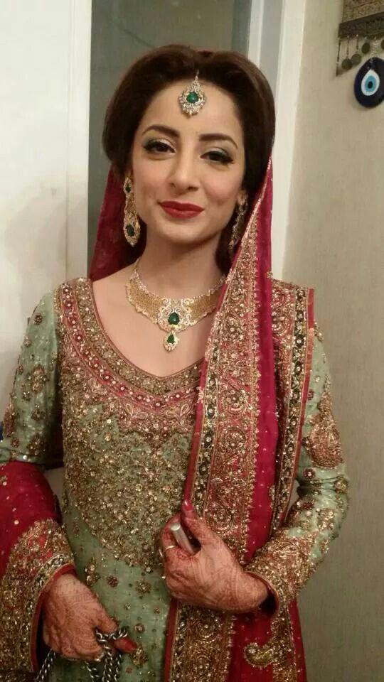 Sarwat Gilani on her wedding. Makeup by Sabs.
