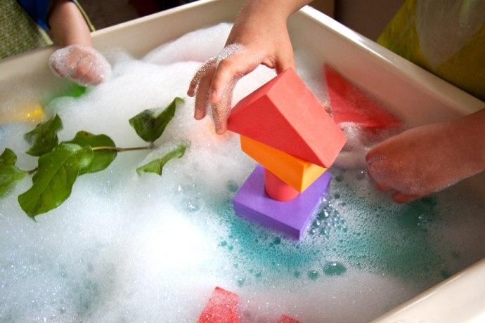 Jack and the Beanstack Sensory Tub Activity! Genius!