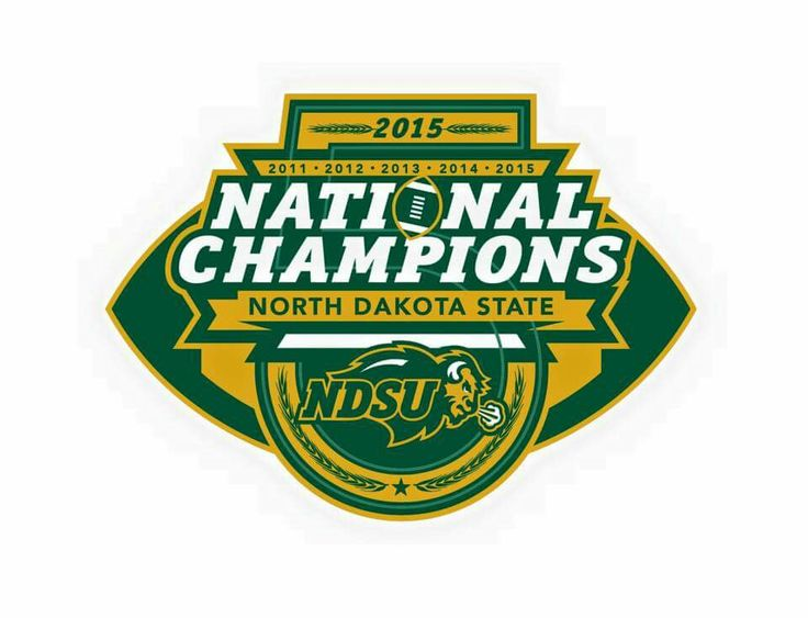 2016 Back to back to back to back to back FCS national champions!!! NDSU Bison football! Unprecedented 5 consecutive national championships!