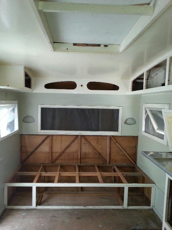 Inside clean...now ready for a sand and paint!