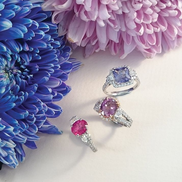 Beautiful rings from the new Coloured Gemstones Collection by Matthew Ely!
