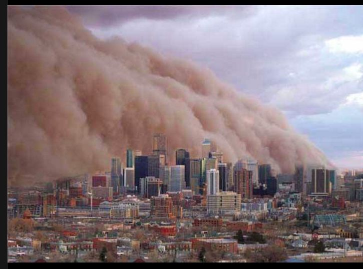 Dust storm Melbourne Feb. 1983.
