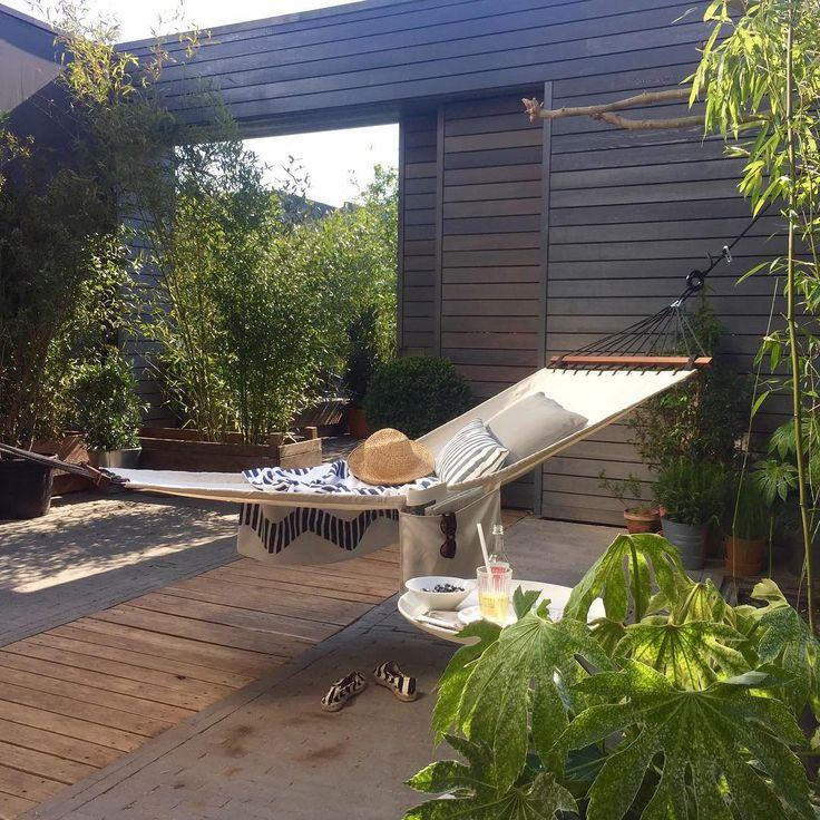 Meer dan 1000 idee n over tuin hangmat op pinterest hangmatten buiten hangmat en hangmatstandaard - Terras schuilplaats ...