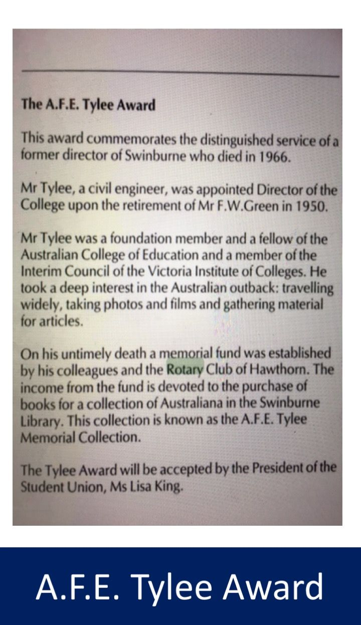 From #Swinburne: 'Conferring of Degrees and Diplomas Wednesday 18 October 1989, Camberwell Centre, 8.15pm