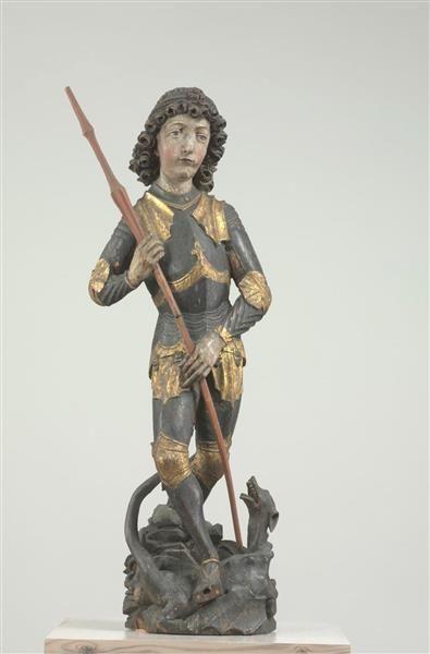 Peter Breuer, Heiliger Georg aus Neukirchen (Sachsen, ca. 1498, Skulpturensammlung, Dresden)