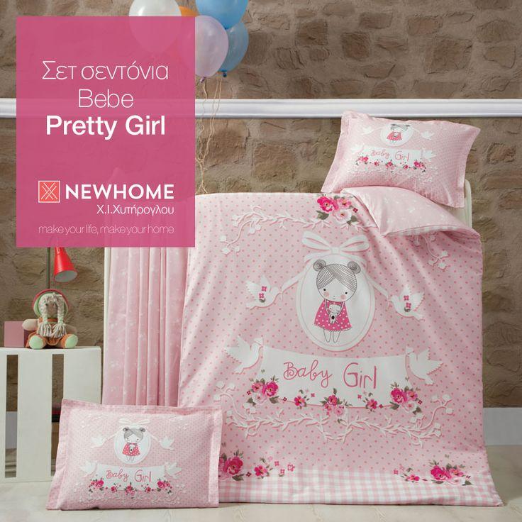 Σετ σεντόνια Bebe Pretty Girl, 100% Βαμβακερά. Το σετ περιλαμβάνει: 2τμχ. σεντόνια για κούνια 1,00 x 1,50 και 1τμχ. μαξιλαροθήκη 0,35 x 0,45. http://www.newhome.com.gr/gr/leyka-eidi/paidika-vrefika/sentonia-bebe/sentonia-bebe-pretty-girl.asp #newhome #chytiroglou #sentonia #bebe