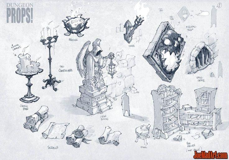 Battle-Chasers-NightWar-dungeon-prop-conceptart-madureira-texture.jpg (1147×800)