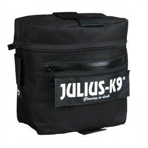 25.50E /sacoches-pour-harnais-julius-k9.Les sacoches Julius s'adapte et s'attache sur les harnais Julius K9 Les sacoches Julius sont réalisées en nylon résistant noir, elle permettent à votre chien de transporter ses affaires en balades ou en vacances. Les sacoches pour harnais Julius K9 sont vendues en paire et sont disponibles en 2 tailles: