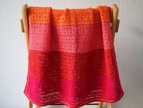 Crochet pattern baby blanket Happy daylacy by BlageCrochetDesign