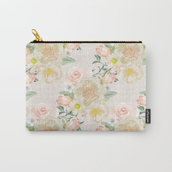 #flowers #floral #spring #carryallpouch Available in different #giftideas products. Check more at society6.com/julianarw