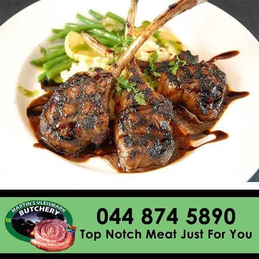 Delicious garlic and lemon lamb chops. Prepared either in the oven or on the braai for that authentic smokey taste. Come down to Martin's Vleismark for our top quality lamb chops that won't disappoint you. #lamb #meat #butchery