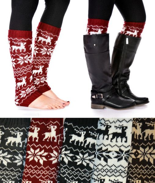 So that's what leg warmers were for? The 80's had it wrong, they forgot the boots!