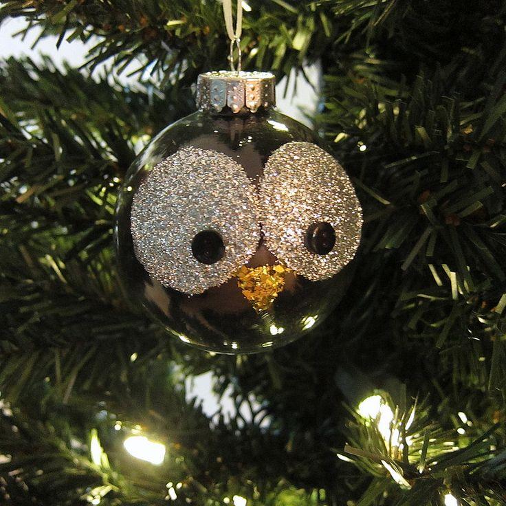 Glitter Owl Ornament   by katbaro