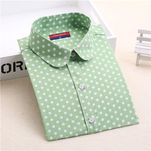 Hot Sale Women Polka Dot Shirt