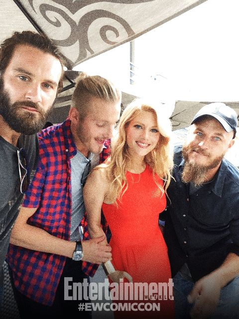 Vikings Cast at the Comic-Con Social Photo Booth 2014