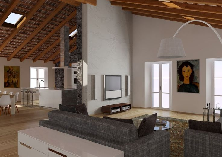 La ristrutturazione di un antico #attico nel centro di Udine #living #mansarda