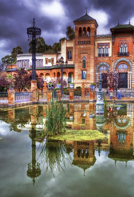 Plaza de América Square in Seville, Spain by Zú Sánchez on Flickr