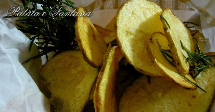 Chips di patate aromatizzate all'aglio e rosmarino - Powered by @ultimaterecipe