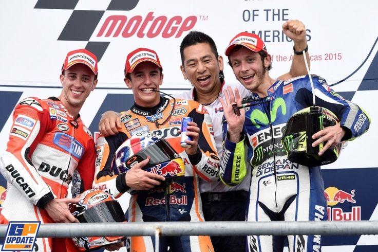Andrea Dovizioso, Marc Marquez, Valentino Rossi, 2015 American MotoGP Grand Prix, MotoGP