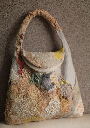 Nuno felted bag