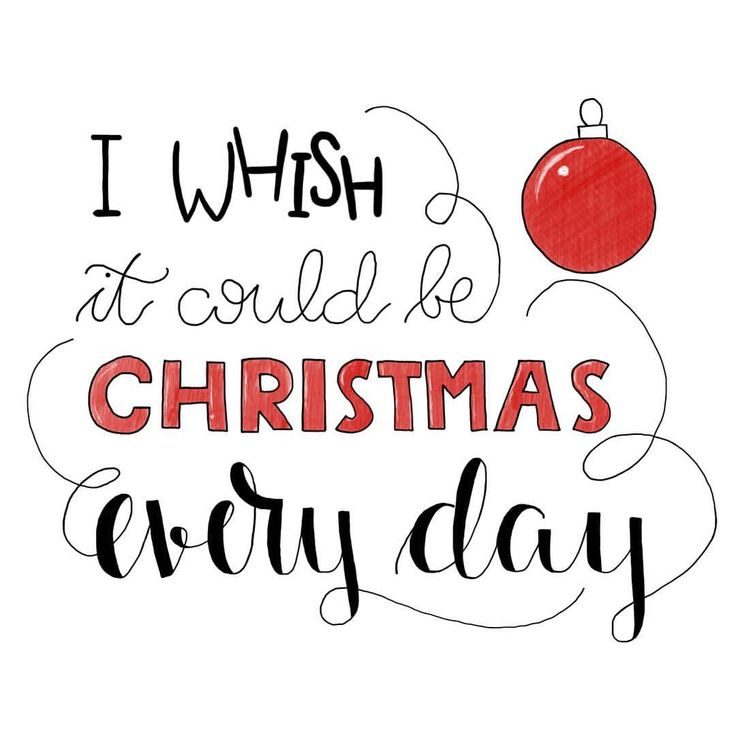 I whish it could be christmax every day! Handlettering