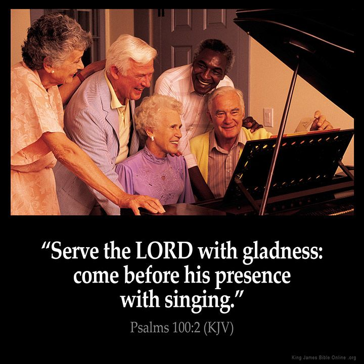 Psalms 100:2 Serve the LORD with gladness: come before his presence with singing. Psalms 100:2 (KJV) from King James Version Bible (KJV Bible) http://ift.tt/23G0JGm Filed under: Bible Verse Pic Tagged: Bible Bible Verse Bible Verse Image Bible Verse Pic Bible Verse Picture Daily Bible Verse Image King James Bible King James Version KJV KJV Bible KJV Bible Verse Pic Picture Psalms 100:2 Verse #KingJamesVersion #KingJamesBible #KJVBible #KJV #Bible #BibleVerse #BibleVerseImage #Bib...