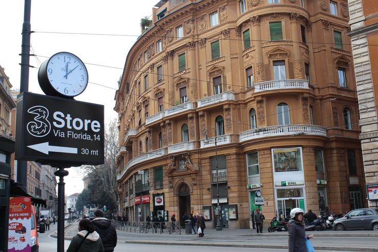 The town of Trastevere - Rome, Italy #streets #clock #building #rome