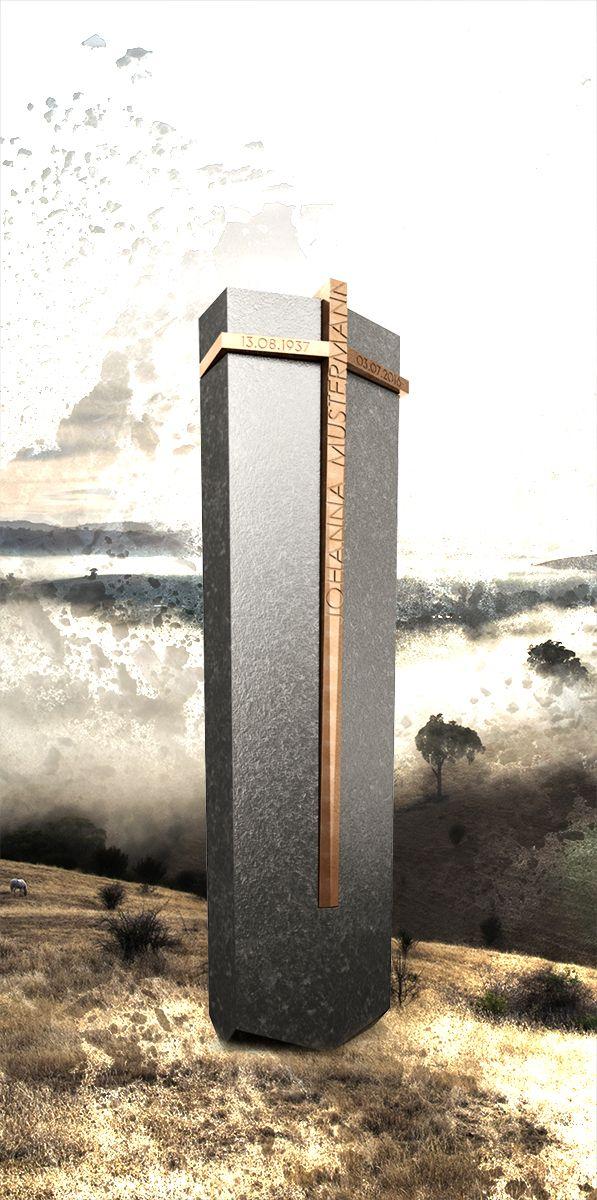 Grabstein Stele Concept ds-o3 | Naturstein Granit Nero Assoluto | Grabmal | Gravestone | Headstone | Modernes Design by Designwerk Daniel Schnettka Hamburg