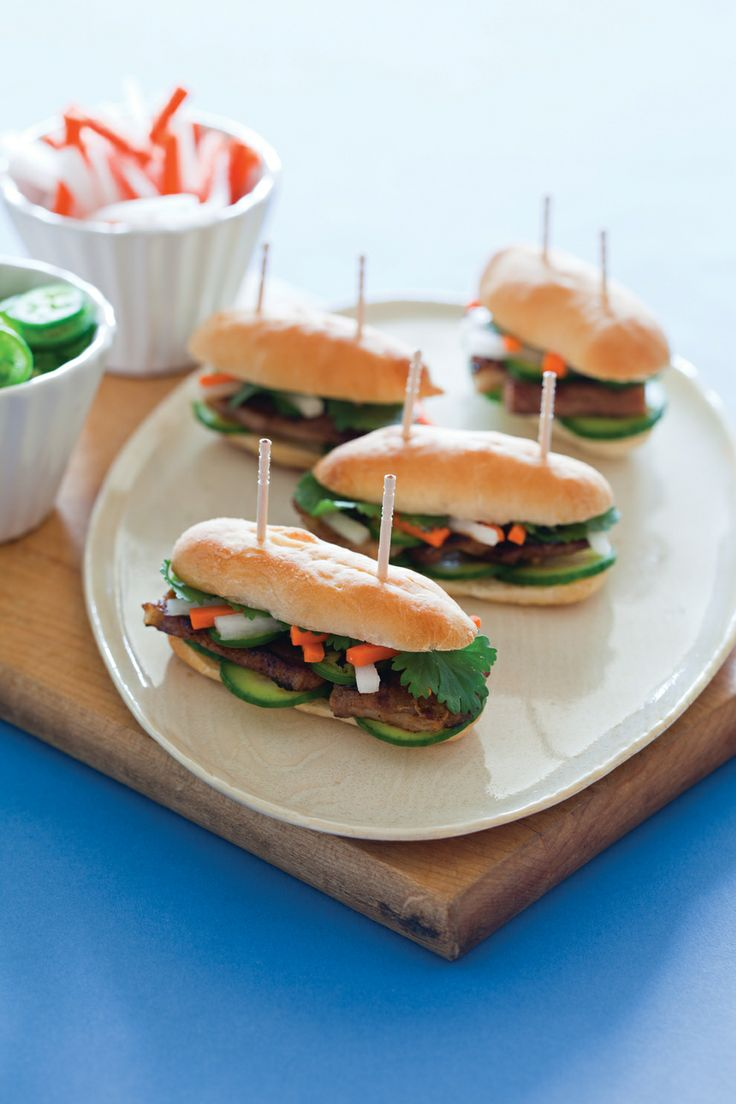 Tiny banh mi (vietnamese hoagies) from TINY FOOD PARTY! as featured on Buzzfeed