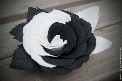 "роза ""Инь Янь"" http://www.livemaster.ru/flowers-by-mary"