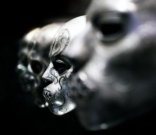 Deatheater Masks at the WB Harry Potter Studio Tour.   Where do i signup to be a DE?