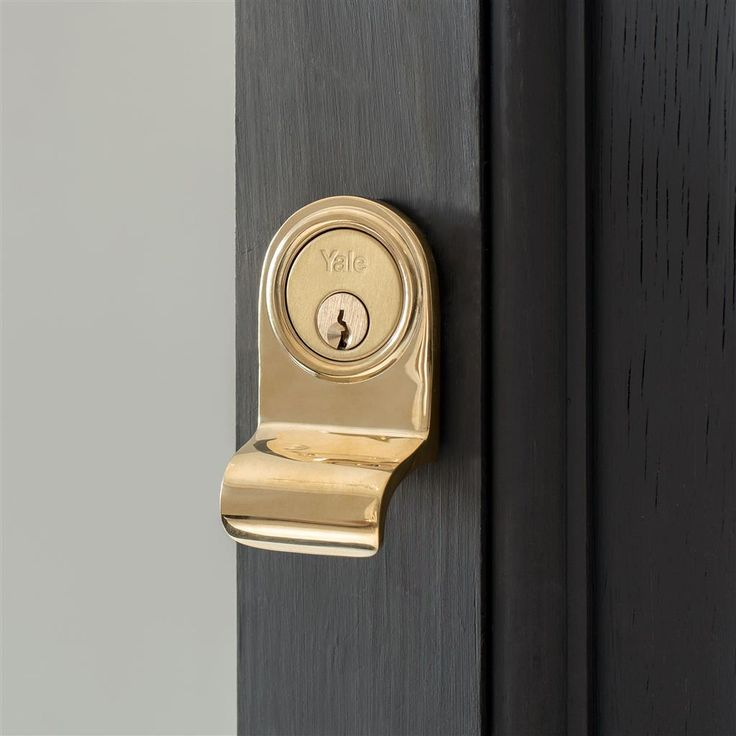Want to give your #Yale Lock some sophistication? We have made our #Lock Surround in Antiqued #Brass & Polished Brass.