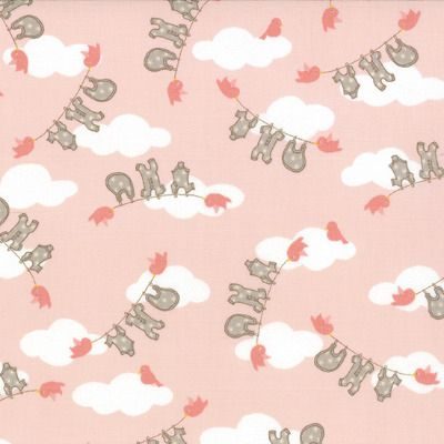 Story Book - Clothesline in Peach (13113 16) // Juberry Fabrics