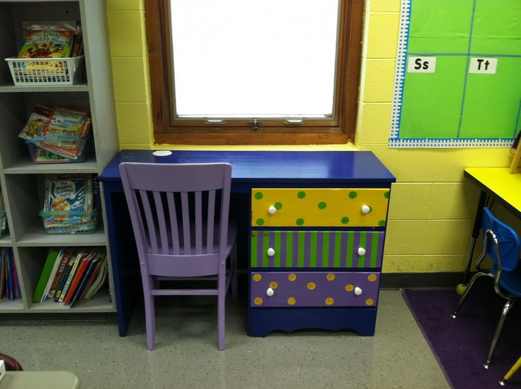 decorating teacher desk | Accomplished: Snagging this **adorable** desk! Is this not the cutest ...