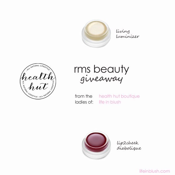 It's Monday so why not have a giveaway?! The Health Hut Boutique and I are gifting two rms beauty cult favourites to one of you. Want to nab them for yourself? Head to the blog now for deets. A winner will be announced Friday, November 7, 2014.  (Open to Canada and US)