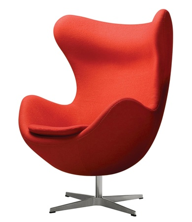 Egg Chair by Arne Jacobsen. Designed in 1958 for SAS Radisson Copenhagen.