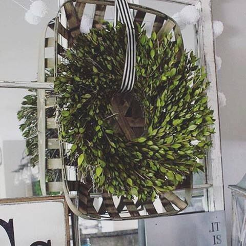 6 Ways To Decorate With Tobacco Baskets! - The Glam Farmhouse                                                                                                                                                                                 More