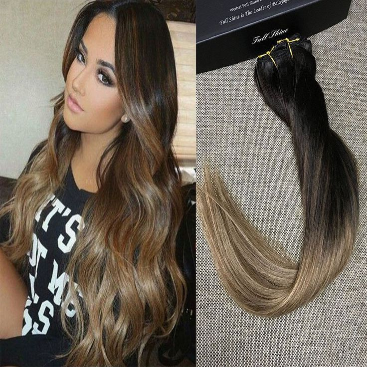 59 best fullshine clip in human hair extensions images on full head real human hair clip in extensions ombre balayage color pmusecretfo Choice Image