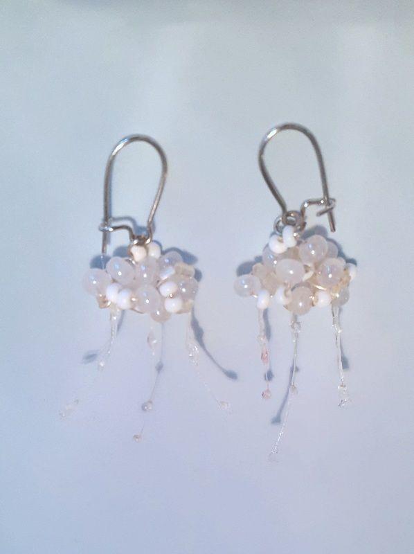 Picture- raincloud earring