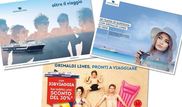 La campagna pubblicitaria 2017 realizzata per Grimaldi Lines dall'agenzia di pubblicità a Napoli AT&ACME. Annunci stampa, affissioni, campagne web.  #ateacme #pubblicita
