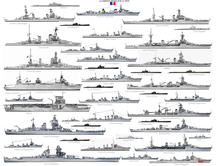 lex-for-lexington:  Ships of the Royal Navy, US Navy and Marine Nationale in World War II.(Source)