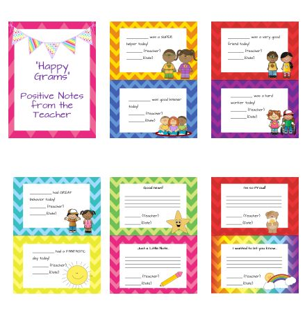 """Happy Grams""- Printable positive notes to send home from the teacher.  :-)"
