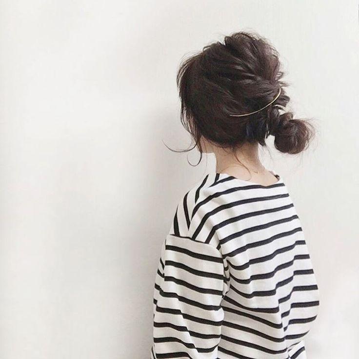 @__a7.2__ - Instagram:「#hairarrange くるりんぱ++ 毎年春になると髪を切りたくなります . #estnation #pluie」