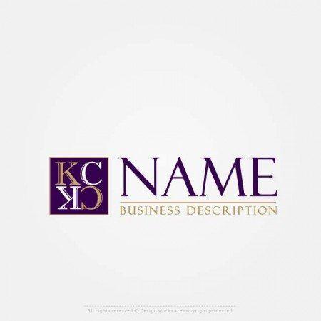 Create Logo Online – Simple Initials logo template