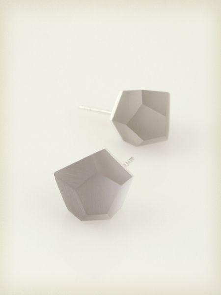 Petite Vu - ash grey, silver earrrings from Fruit Bijoux by DaWanda.com