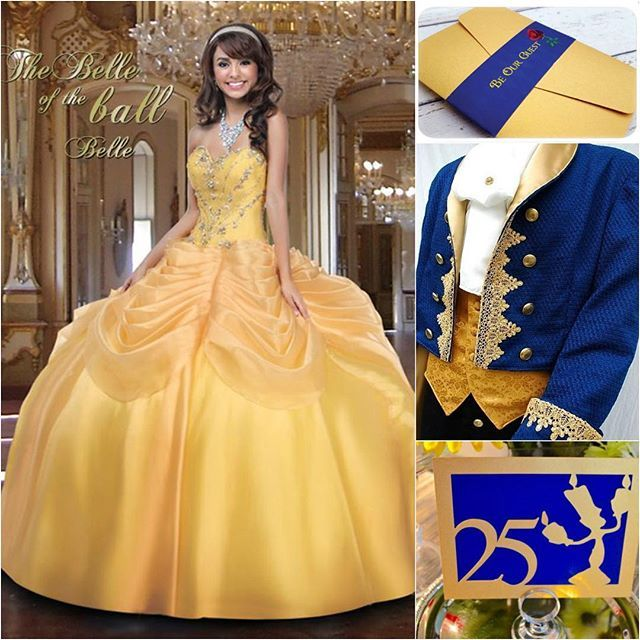 Be our Guest… To a beautiful Beauty and the Beast themed #Quinceañera!   For more ideas click link in bio  #quinceaneradotcom #quinceanera #quince
