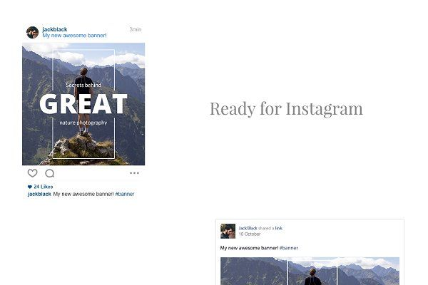 Blog Social Media Banners - Web Elements